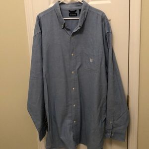3XLT Chaps chambray Oxford Dress Shirt.